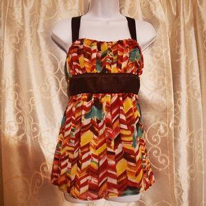 Trixxi Empire Sleeveless Fall Dress